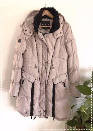 Płaszcz puchowy w kolorze białej wełny-jasnobeżowy Poliester