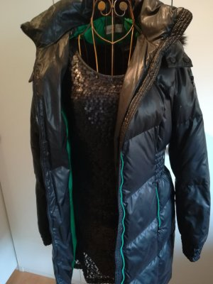 Daunenmantel Esprit schwarz/grün