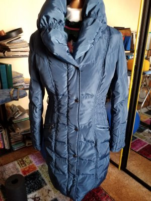 Italian Fashion Manteau en duvet bleu-bleu acier