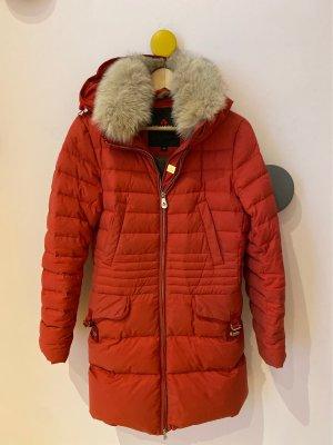 Peuterey Abrigo de plumón rojo-blanco puro