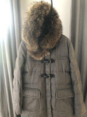 mabrun Manteau en duvet gris-brun noir