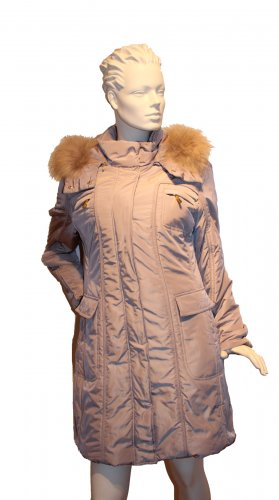 White Label Down Coat beige polyester