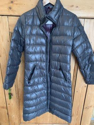 Moncler Manteau en duvet gris-brun pourpre