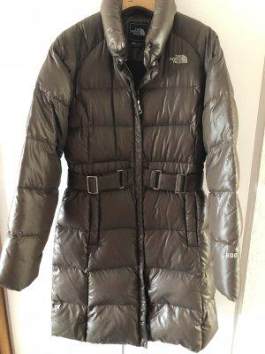 The North Face Abrigo de plumón marrón oscuro lyocell