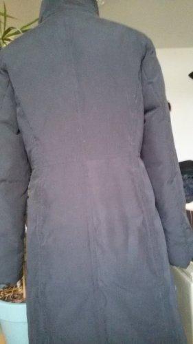 Abrigo de plumón negro tejido mezclado