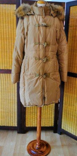 Bottega Płaszcz puchowy piaskowy brąz-beżowy
