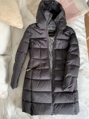 Massimo Dutti Abrigo de plumón gris oscuro-gris antracita