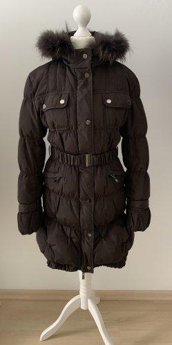 Rinascimento Futrzany płaszcz ciemnobrązowy