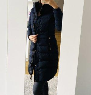 Zara Płaszcz puchowy niebieski-ciemnoniebieski