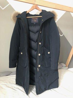 Woolrich Manteau en duvet bleu foncé tissu mixte