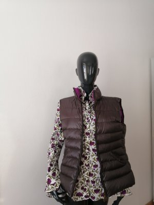 Kleidermanufaktur Habsburg Down Vest brown-violet