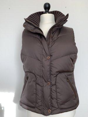 Esprit Down Vest dark brown polyester