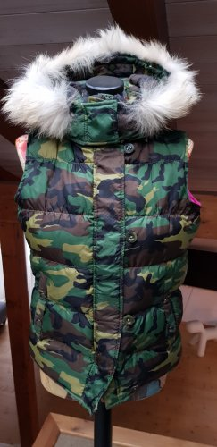 Down Vest brown-forest green