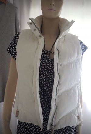Esprit Puchowa kamizelka w kolorze białej wełny