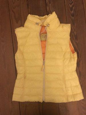 Witty Knitters Gilet en duvet jaune-orange
