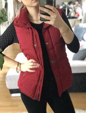 Daunenweste, rot, Esprit, mit Fleece