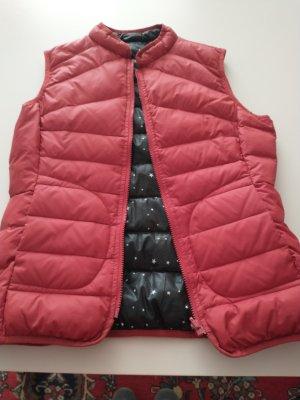 Oui Down Vest dark red polyamide