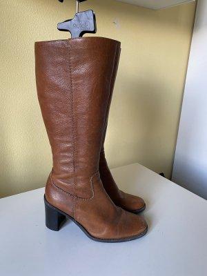 Dave Mayer Heel Boots cognac-coloured