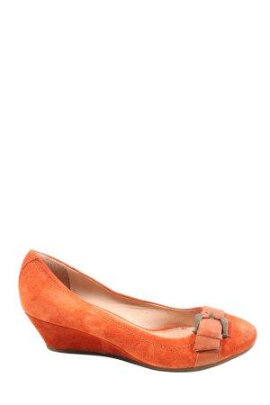 Dave Mayer Wedge Pumps light orange casual look