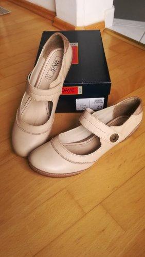 Dave Mayer Zapatos Mary Jane beige claro-beige Cuero