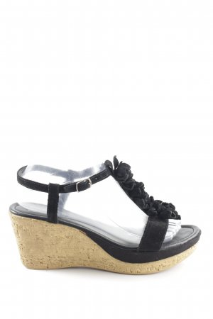 Dave Mayer Wedges Sandaletten schwarz Casual-Look