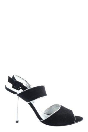 David Braun High Heel Sandal black-white casual look