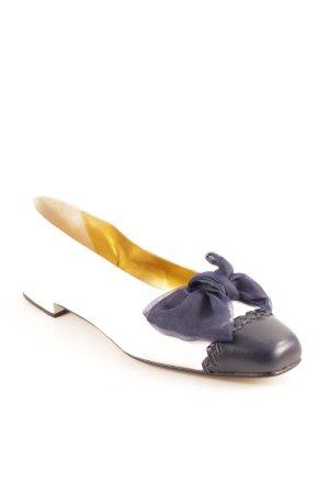 David Braun Slip-on blanc-bleu foncé style classique