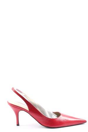 David Braun Slingback pumps rood casual uitstraling