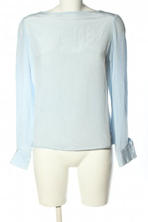 David Hayes Silk Blouse blue-white striped pattern casual look