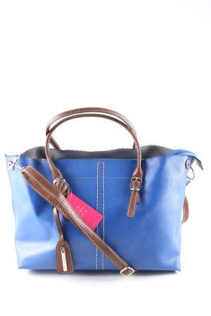 David Jones Bowlingtasche blau-braun Casual-Look