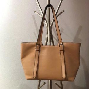 David Jones, Elegant Damentasche, Tasche, Sand/Beige, 40X23X15 cm