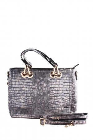 David Jones Carry Bag light grey-brown animal pattern business style