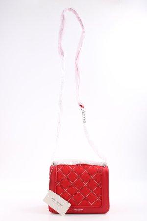 David Jones Sac bandoulière rouge motif de courtepointe style décontracté