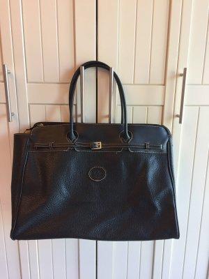 David Jones Weekender Bag black leather