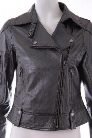 Biker Jacket grey-silver-colored leather