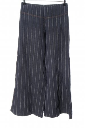 david pond Pantalone culotte blu-bianco stampa integrale stile casual