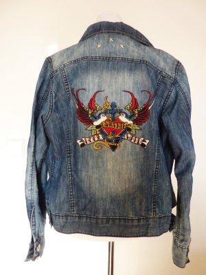 David Vicente Jeansjacke blau Nieten Oldschool Rockabilly Jeans Jacke M 40