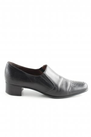 Davos Gomma Slip-on Shoes black casual look