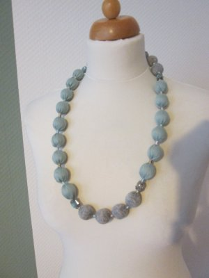 Pearl Necklace sage green-light grey