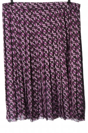 Dawid Tomaszewski Pleated Skirt lilac-black allover print casual look