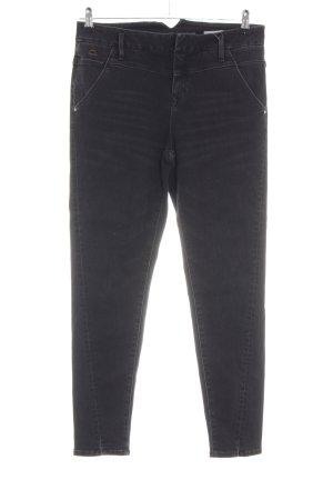 Dawn Hoge taille jeans zwart Gemengd weefsel