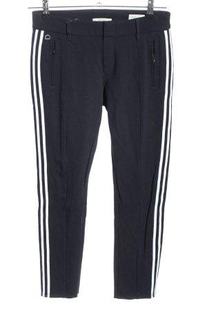 Dawn Pantalón elástico negro-blanco estampado a rayas look casual