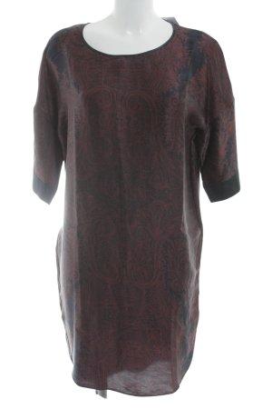 DAY Birger et Mikkelsen Blouse Dress anthracite-carmine abstract pattern elegant