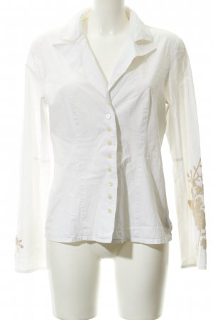 DAY Birger et Mikkelsen Hemd-Bluse weiß-beige Business-Look