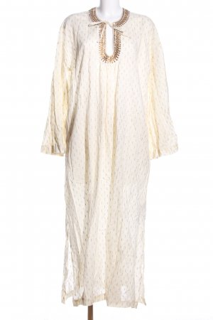 DAY Birger et Mikkelsen Maxikleid creme-wollweiß Allover-Druck Casual-Look