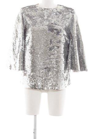 DAY Birger et Mikkelsen Oversized Bluse silberfarben Glanz-Optik