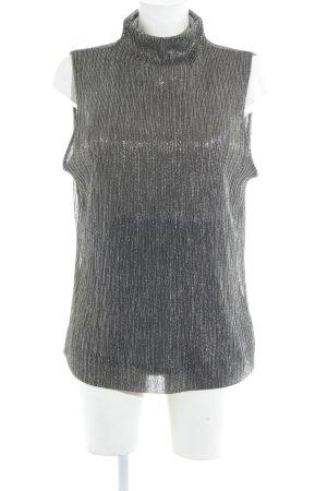 DAY Birger et Mikkelsen Top con colletto arrotolato argento-nero motivo a righe