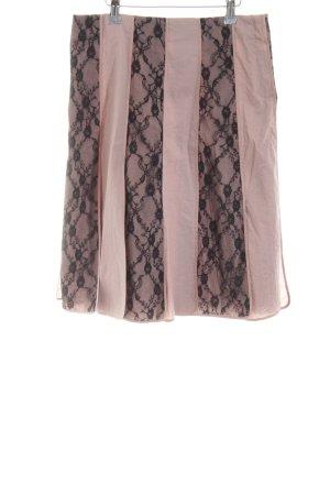 DAY Birger et Mikkelsen Tellerrock pink-schwarz Streifenmuster Elegant