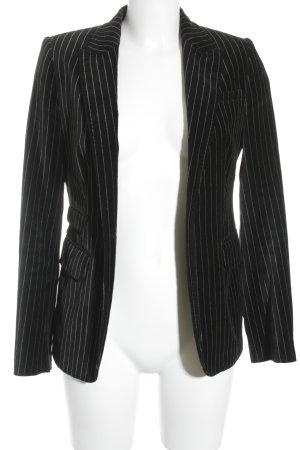 DAY Long-Blazer schwarz-weiß Streifenmuster Business-Look