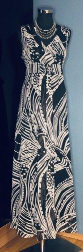 Debenhams Robe longue noir-blanc